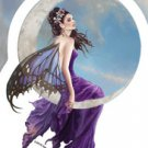 NENE THOMAS MOON AMETHYST FAIRY WITH BUTTERFLY WINGS STICKER FANTASY CAR DECAL