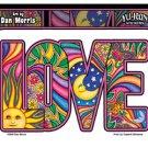 DAN MORRIS - LOVE - LETTER STICKER WITH SUN, MOON, STARS, BUTTERFLY DIE-CUT *NEW