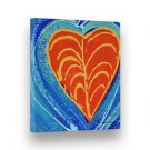 "Handpainted Abstract Painting INTERMOST HEART Stretched 7""X8"" Canvas by Lombardi"
