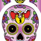 "SUNNY BUICK HEART LOCK SUGAR SKULL STICKER TATTOO DAY OF THE DEAD STICKER "" NEW"