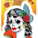 SUNNY BUICK LADY SUGAR SKULL STICKER DAY OF THE DAY TATTOO STICKER * NEW ""