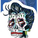 "SUNNY BUICK ROCKABILLY ROCKER SUGAR SKULL STICKER DAY OF THE DEAD STICKER ""NEW """
