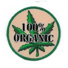 100% ORGANIC MARIJUANA POT LEAF WEED GRASS EMBROIDERED IRON - ON PATCH * NEW *