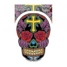 SUNNY BUICK - ROSE CROSS SUGAR SKULL - STICKER COOL DAY OF THE DEAD STICKER NEW
