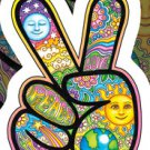 ARTIST DAN MORRIS ARTWORK, PEACE HAND * Die-Cut STICKER, Weather-Resistant 4 x 6