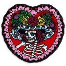 FLOWER HAT SUGAR SKULL LADY DAY OF THE DEAD IRON ON PATCH BY SUNNY BUICK * NEW *