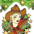 SUNNY BUICK COWGIRL STICKER FUN OLD SCHOOL TATTOO STYLE COWGIRL STICKER*  NEW *