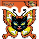 "SUNNY BUICK KITTY CROSSBONES BUTTERFLY STICKER SIZE: 5"" X 4.5"" NEW"
