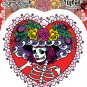 SUNNY BUICK FLOWER HAT SUGAR SKULL STICKER TATTOO DAY OF HTE DEAD STICKER  NEW