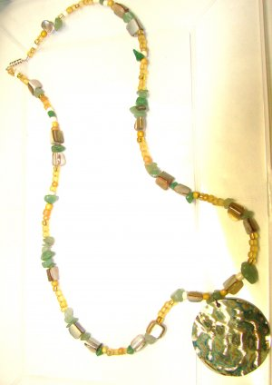 Necklace with Mop Shell Pendant