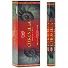 Citronella Incense Hex Pack (Hem)