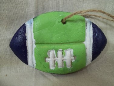 Seattle's Favorite Color Blue & Green FOOTBALL Ornament