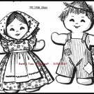 VIntage *THE FARM TWINS* Stuffed Doll Pattern