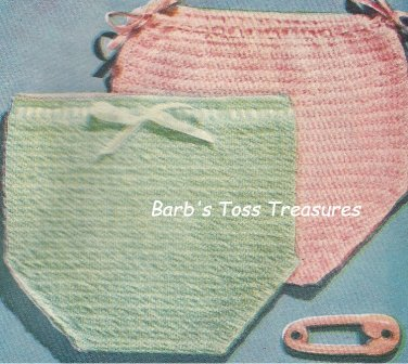 Vintage Crocheted SOAKER Diaper Cover Pattern
