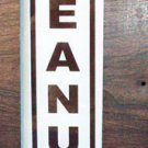 Glass Sign Replacement- Hot Peanuts (Brown)