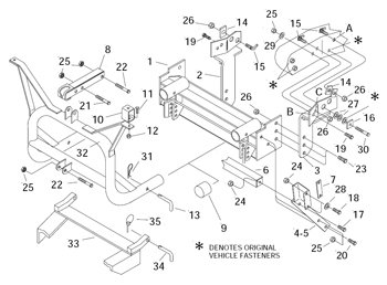 11400 Meyer Shim for Meyer 17096 Ford Mount 1987 through 1991 Schematic in Ad