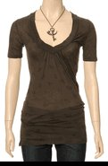 Saint Grace Elsa Top, chocolate, M