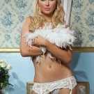 White Lace Garter Belt