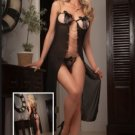 Open Cup Black Babydoll lingerie set