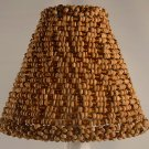 "4.5"" Wood & Amber Bead Clip On Chandelier Lamp Shade"