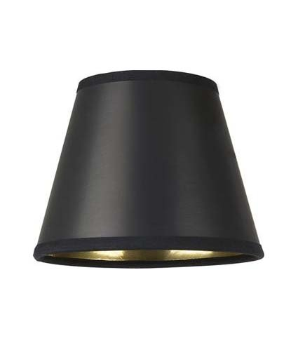 "4.25"" Black Parchment - Empire Hard Back - Lamp Shade w/ Silver Lining"