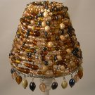 """4"""" Multi Color Beaded -Clip on - Chandelier Lamp Shade"""