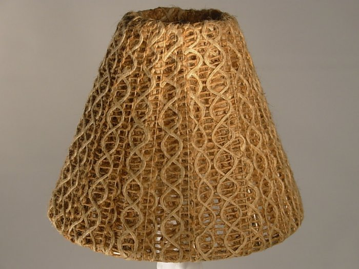 """4"""" Two Tone String - Clip On Chandelier Lamp Shade"""