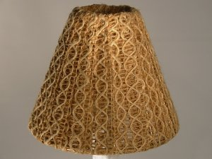 "4"" Two Tone String - Clip On Chandelier Lamp Shade"
