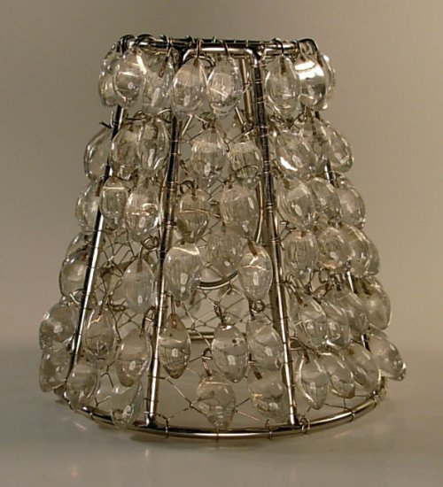 "4"" Clear Bead - Clip on Chandelier Lamp Shade"