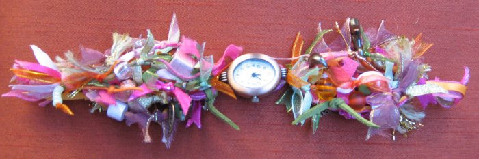 Fabulous Charm, Bead and Ribbon Watch