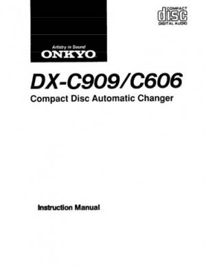 Onkyo DXC730 DX-C730 DXC-730 Operating Guide User Instructions