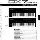 Yamaha DX7S DX-7S Service Manual