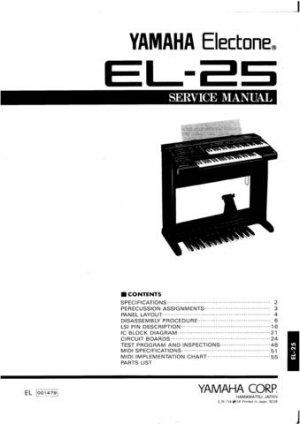 Yamaha EL27 EL-27 Service Manual