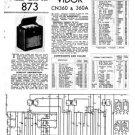 Vidor CN360A CN-360A Vintage Wireless Service Information