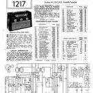 Vidor CN431 CN-431 Marquisa Vintage Wireless Service Information