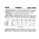 Vidor CN433 CN-433 Vanessa Vintage Wireless Service Information