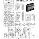 Vidor CN439 CN-439 Vagabond Vintage Wireless Service Information