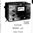 Taylor 45C Instructions with Schematics etc