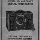 Taylor 68B Instructions with Schematics etc