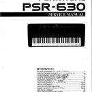 Yamaha PSR630 PSR-630 Service Manual