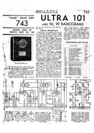 Ultra 101 Vintage Wireless Repair Schematics etc