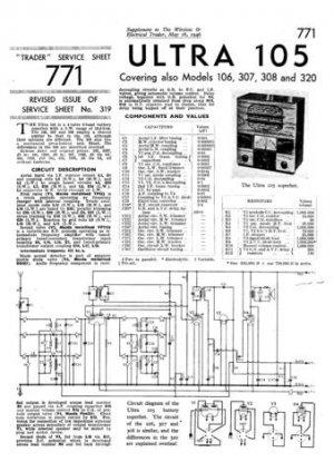 Ultra 106 Vintage Wireless Repair Schematics etc