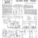 Ultra 6116 Radio Repair Schematics etc