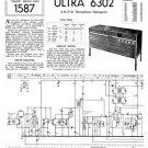 Ultra 6302 Radiogram Repair Schematics etc