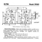 Ultra SPG83 SPG-83 Record Player Repair Schematics etc