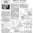 Ekco BT359 BT-359Technical Repair Schematics etc