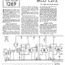 Ekco C273 C-273Technical Repair Schematics etc