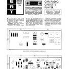 Ekco CR950 CR-950 Car Radio CassetteTechnical Repair Schematics etc
