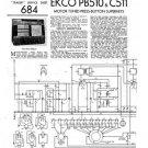 Ekco PB510 PB-510Technical Repair Schematics etc