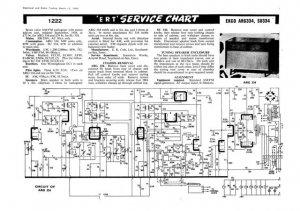 Ekco SU334 SU-334 RadiogramTechnical Repair Schematics etc